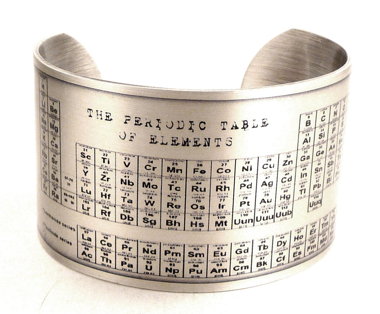 Chemical element jewelry google search jewelry pinterest periodic table of elements silver plated cuff bracelet chemistry jewelry science jewelry urtaz Image collections