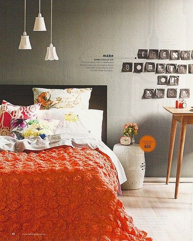 ORANGE mood Home sweet home Pinterest Real living magazine - Orange Bedrooms