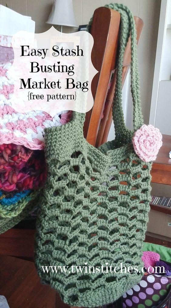 Easy Stash Busting Market Bag By Jennifer Uribe - Free Crochet ...