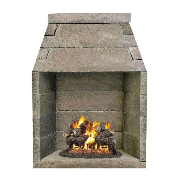 Firerock B Vent Fireplace 42 Fireplace Kits Fireplace Accessories Gas Logs