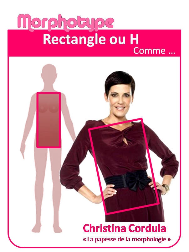 Robe coupe droite morphologie