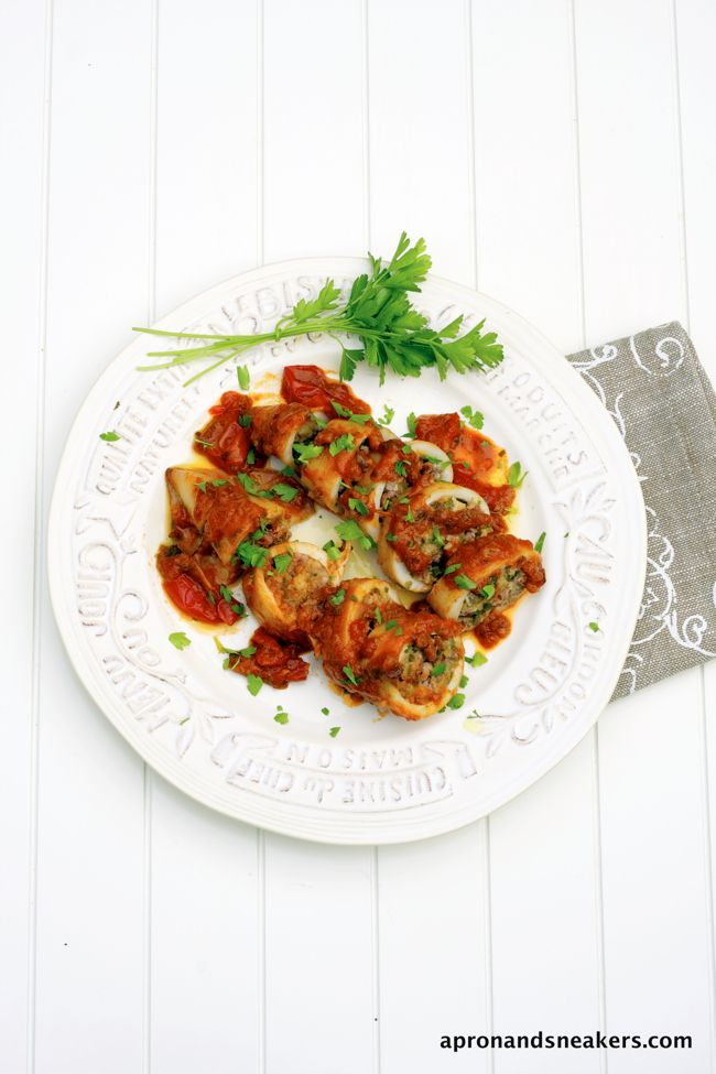 Apron and Sneakers - Cooking & Traveling in Italy and Beyond: Calamari Ripieni (Stuffed Calamari)