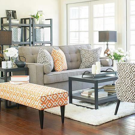 Apartment AH Sterling Sofa in Smoke Grey Sand Linen  $499.00. Cute styling with good prices from Walmart out of all places.