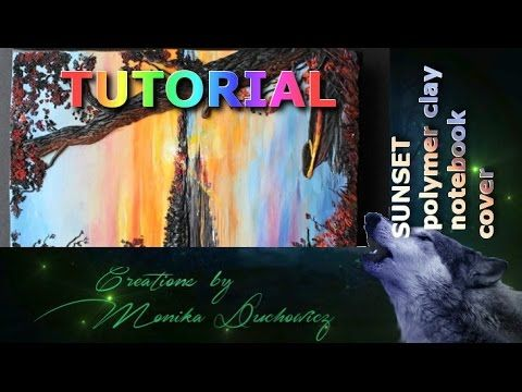 TUTORIAL Polymer clay painting technique SUNSET - YouTube