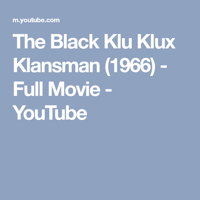Watch Black Klansman Full-Movie Streaming