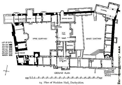 24 Plan Of Haddon Hall Derbyshire Haddon Hall Floor Plans