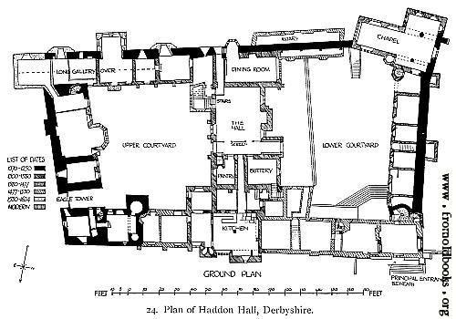 Plan Of Haddon Hall Derbyshire Floor Plans Castles