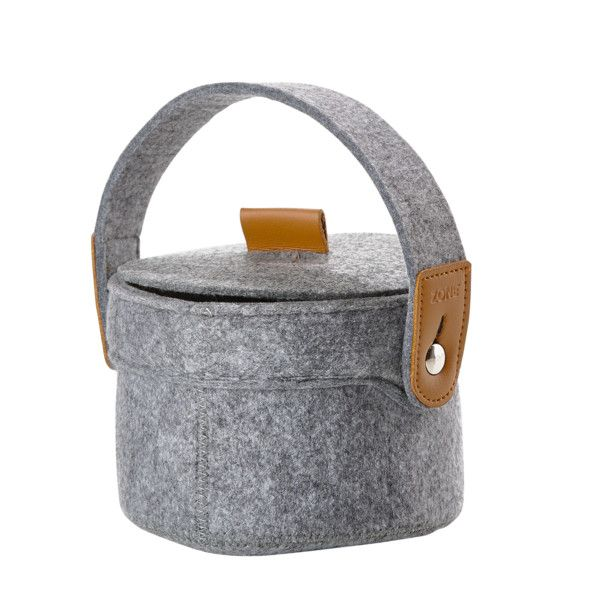 Úložný košík z filcu s vekom Zone, sivý