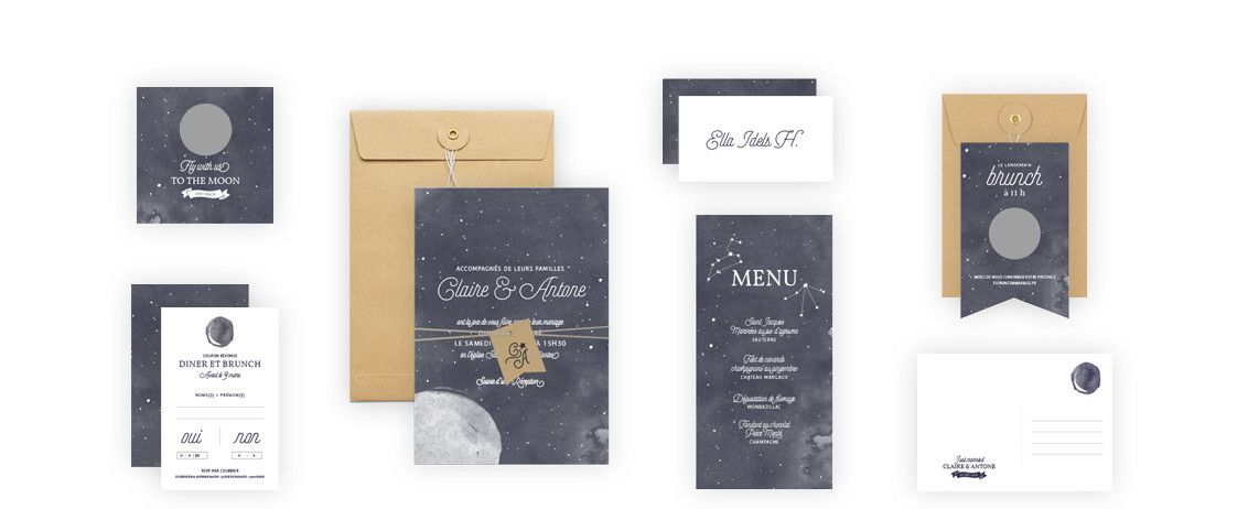 Collection Faire-part Mariage Moon