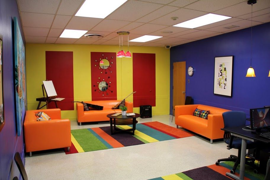 Colourful Games Room Fun Teen Games Room Pinterest