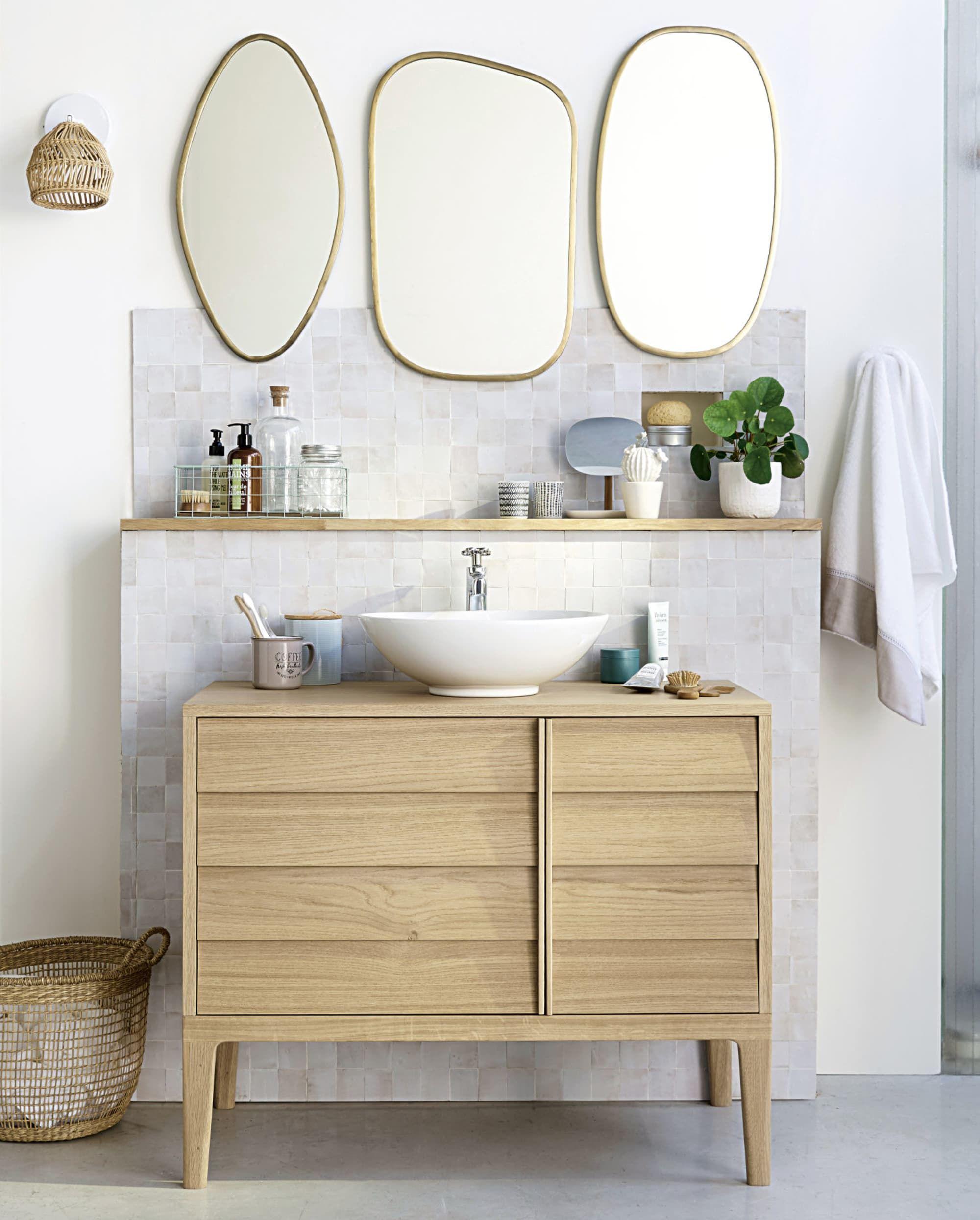 3 Miroirs En Métal Doré In 2019 Home Sweet Home Bathroom