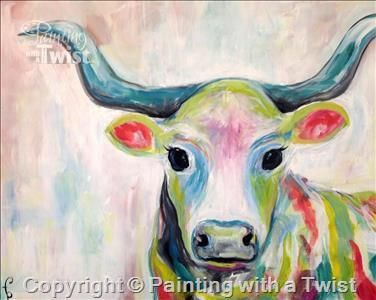 Colorful Cow Oklahoma City OK The Village Painting Class