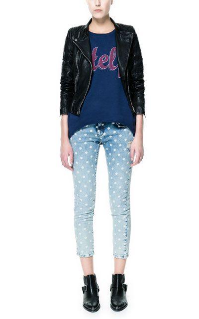 My Zips Fashion Jacket Trafaluc Women's Biker With Leather H7qxwp1a