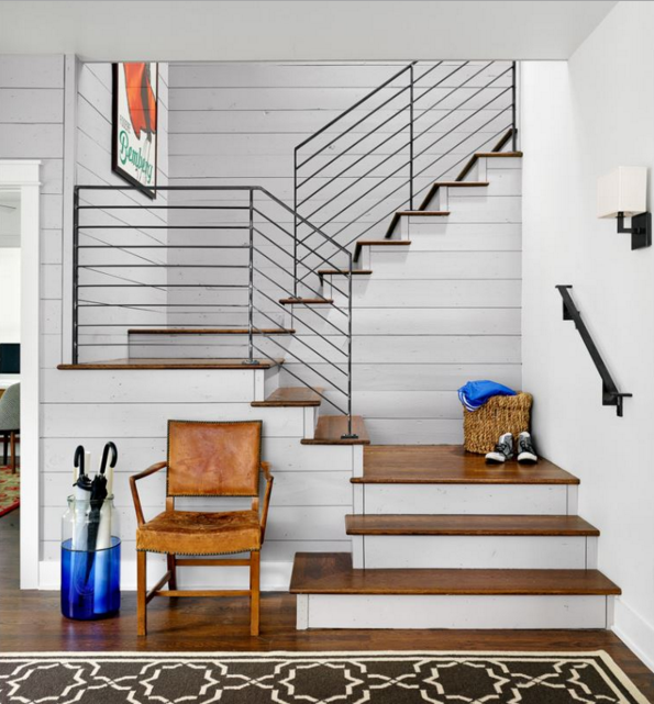 In Love With These Stairs: Horizontal Railings, Wood Treads, White Risers,  Clean And Modern Without Being Cold And Sterile