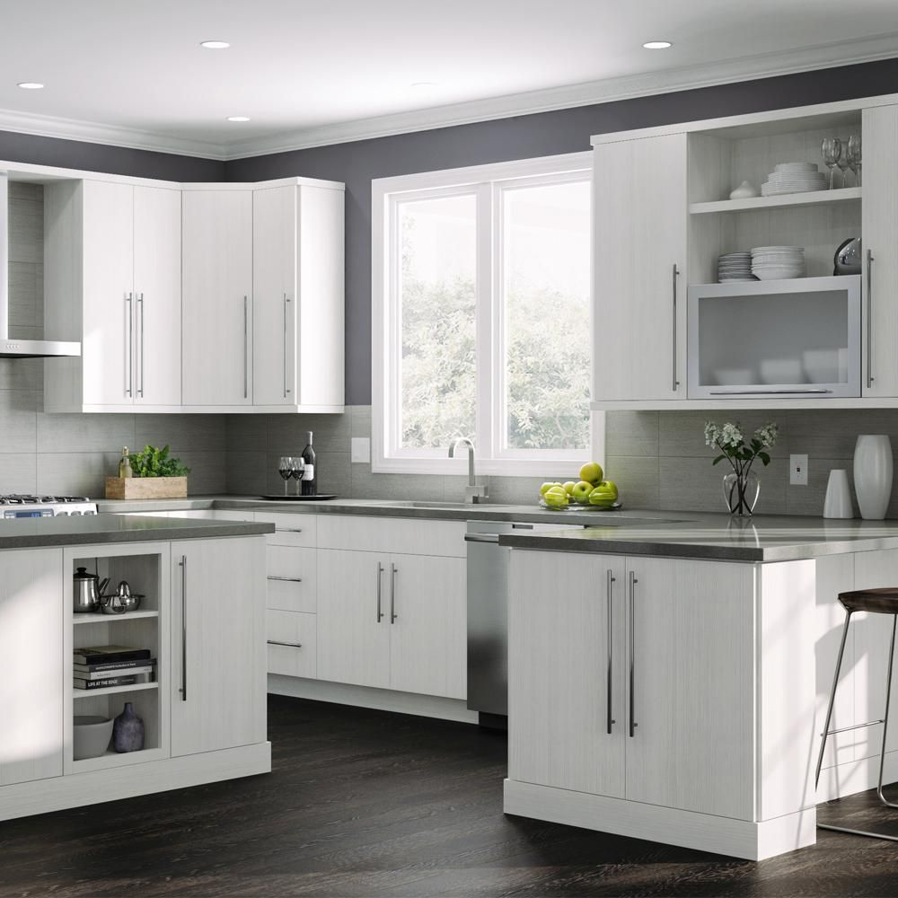 Design For Kitchen Cabinet: Hampton Bay Designer Series Edgeley Assembled 18x30x12 In