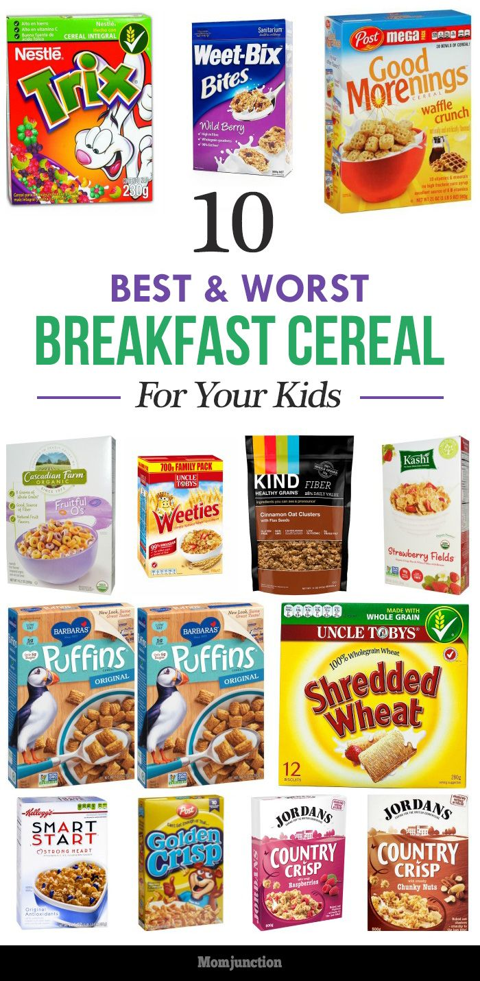 10 Best And Worst Breakfast Cereals For Kids Arts And Crafts