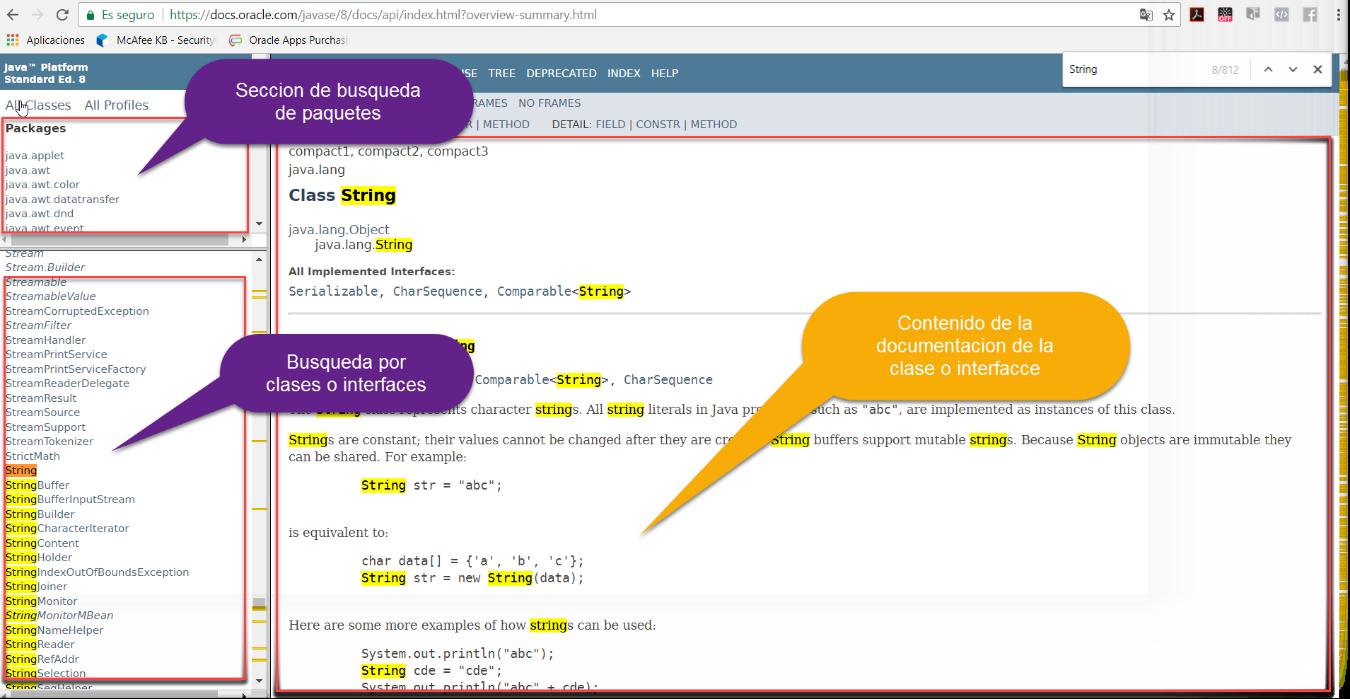 Estructura De La Documentación En Java Java Lenguaje De