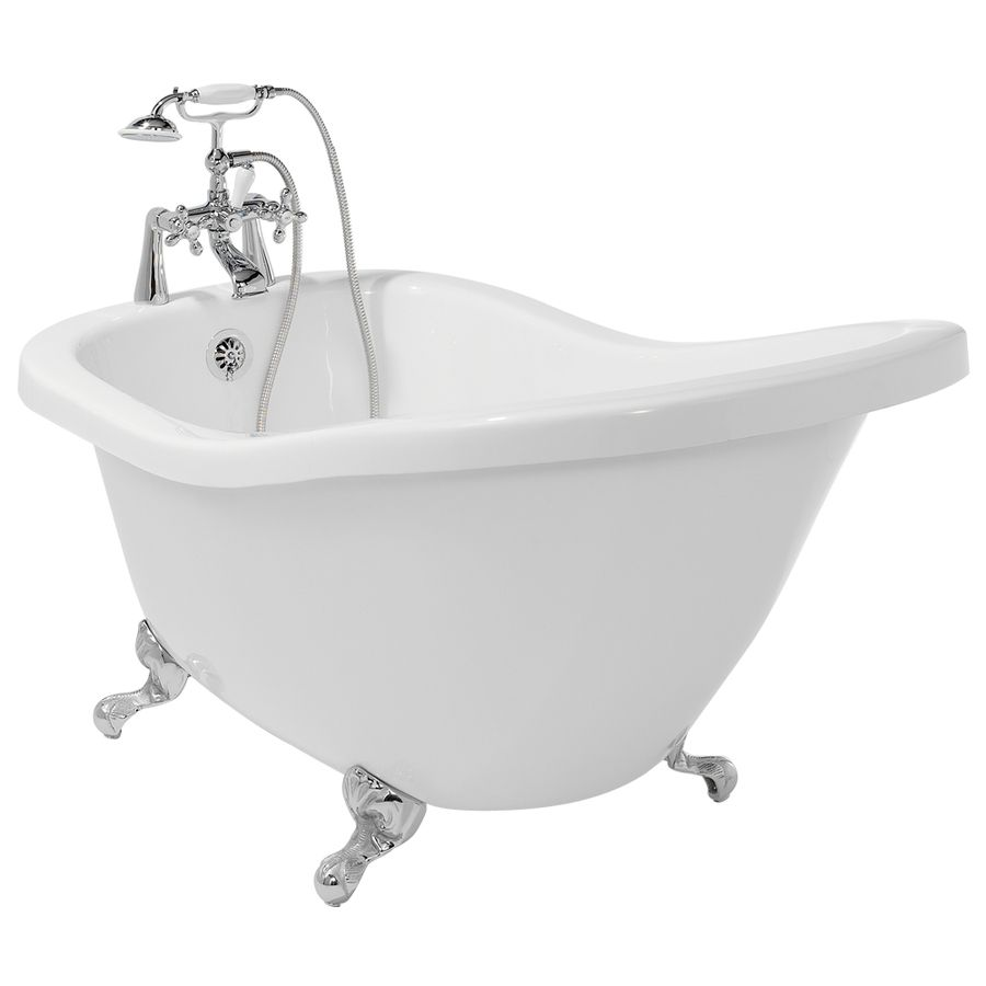 Shop American Bath Factory 59-in x 31-in Chelsea White Round ...