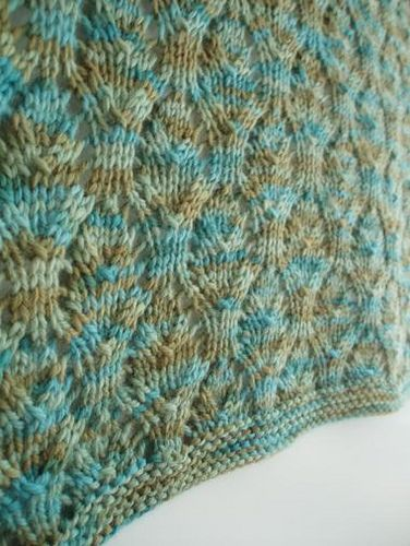 Started knitting this Chalice Lace Baby Blanket in the