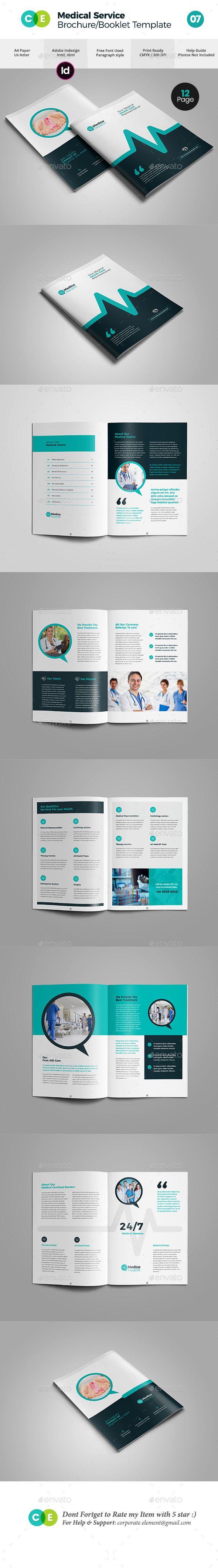 Booklet Brochure Template | Medical Service Booklet Brochure Template V07 Pinterest Diseno