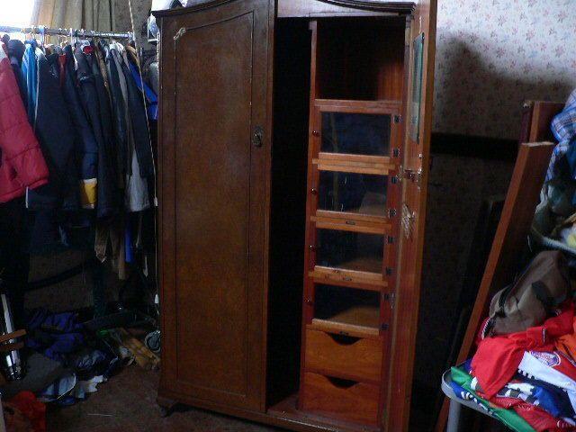 vintage antique furniture wardrobe walnut armoire. vintage walnut gentlemans wardrobe antique haberdashery double armoire furniture