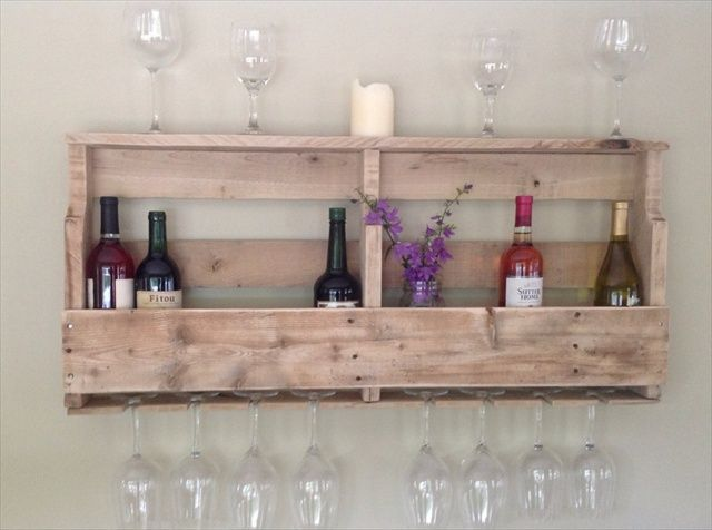 DIY Pallet Wine Rack Shelf With Awesome Ideas And Diy Wine Rack ...