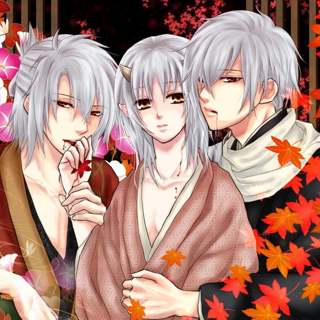 Download Wallpaper 1024x1024 Anime, Boys, Girl, Vampire