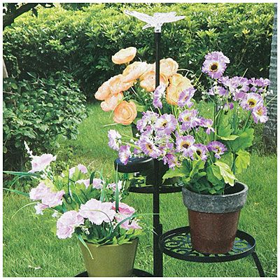 wilson fisher 3 tier solar butterfly plant stand at big lots 20 ea 11 5 wide x 9 5. Black Bedroom Furniture Sets. Home Design Ideas
