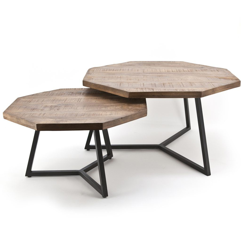 Octagon Coffee Table 2 Set By Boo Woo Design Wood Table Design Coffee Table Coffe Table Decor [ 1024 x 1024 Pixel ]