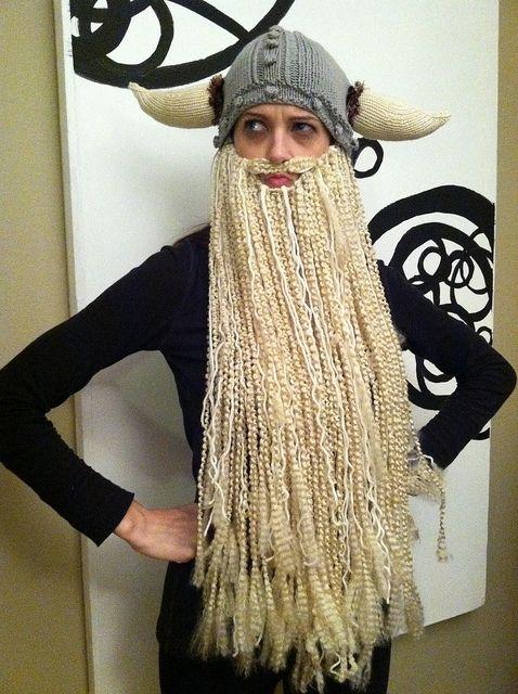 3f79e474c226d1 Viking Hat & GIANT Beard Tutorial | Cosplay Knits | Crochet beard ...