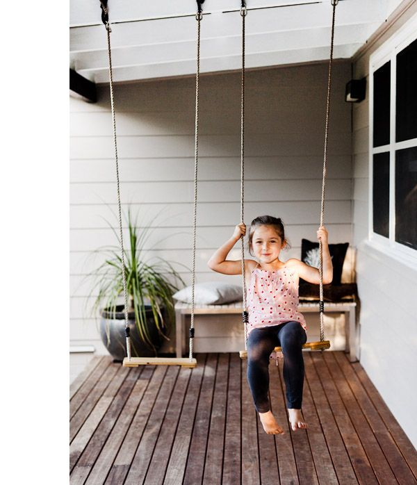 Swings On Front Porch Great Idea Kids Can Get Out And