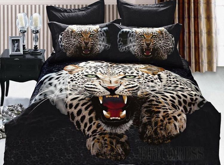 3d Special Leopard 100 Cotton Bedding Sets Animal Print Bedding