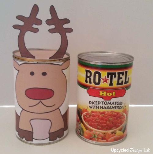 Upcycled Design Lab Blog - Upcycled Tin Can Christmas