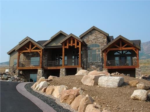This is a great single story mountain style house plan for One story mountain house plans