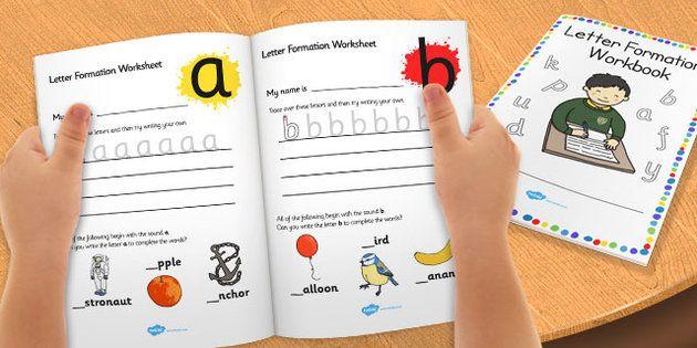 letter formation workbook a z education home school child development children activities. Black Bedroom Furniture Sets. Home Design Ideas