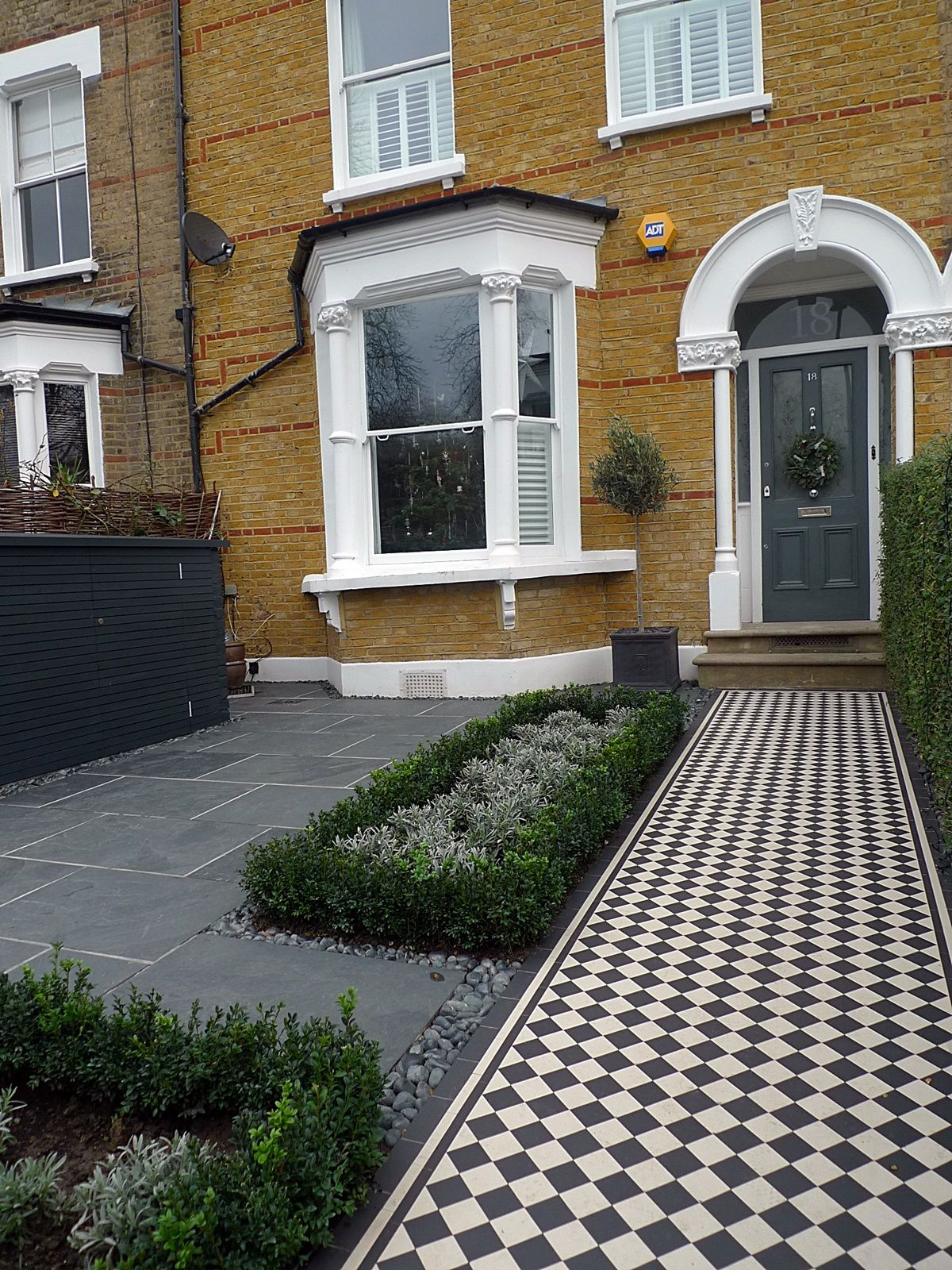 Black And White Victorian Mosaic Tile Path Knot Garden