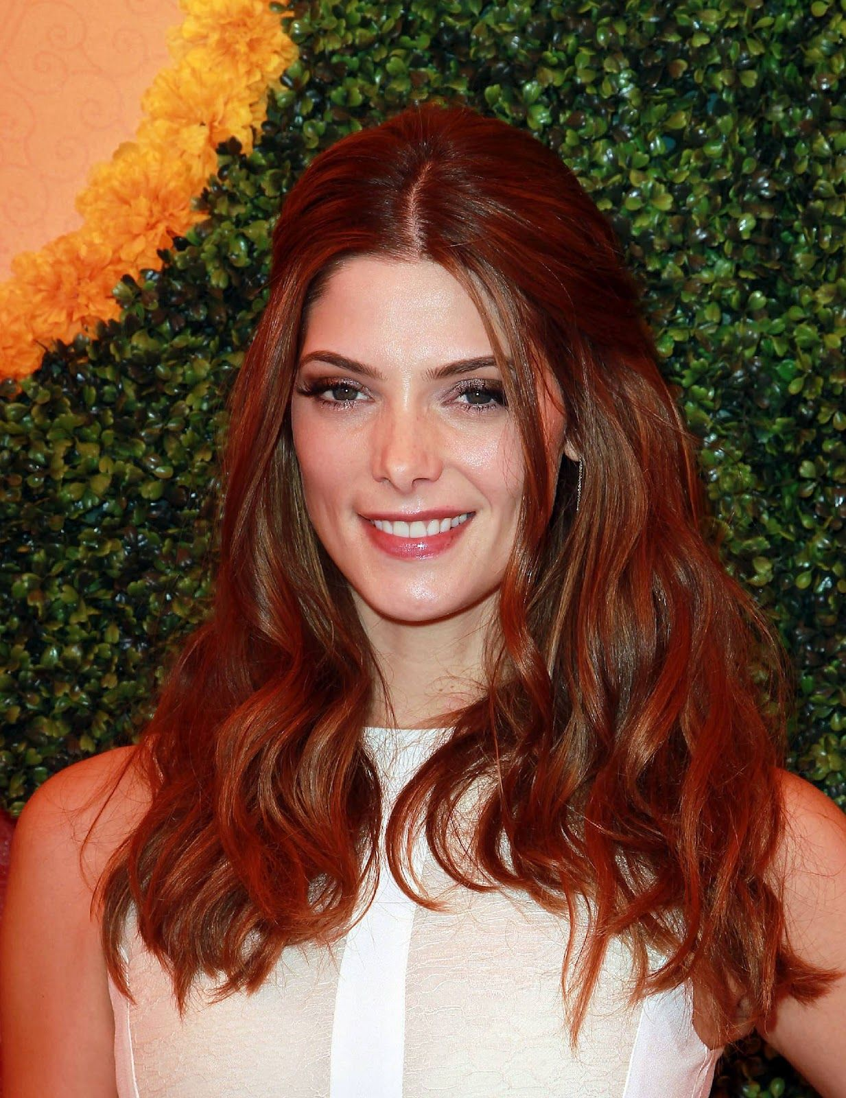 Ashley Greene Sports A Fiery New Mane Stylenoted Red Brown Hair Colorred