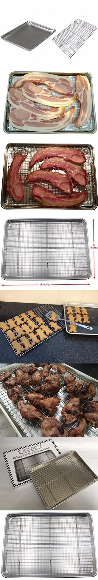 Checkered Chef Half Sheet Pan And Rack Set Aluminum Cookie Sheet