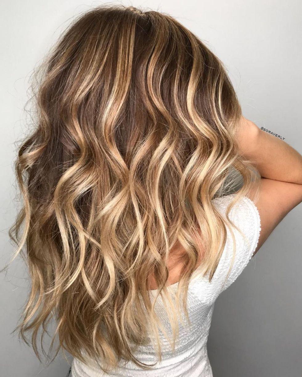Caramel Blonde Balayage For Light Brown Hair Brown Hair With Highlights And Lowlights Brown Hair With Highlights Hair Highlights