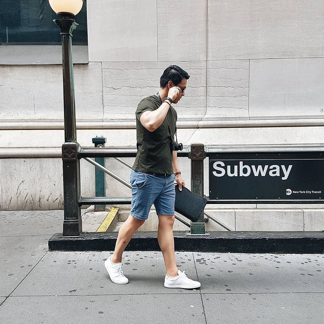 Summer style - By @mrgumbatron - Available on mujjo.com or through resellers worldwide #mujjo . . .  #mensstyle #fashion #macbooksleeve #subway