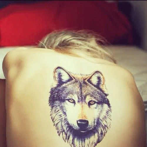 #tattoo #wolf #sexy #spine #ouch #goodgirlshavetatstoo