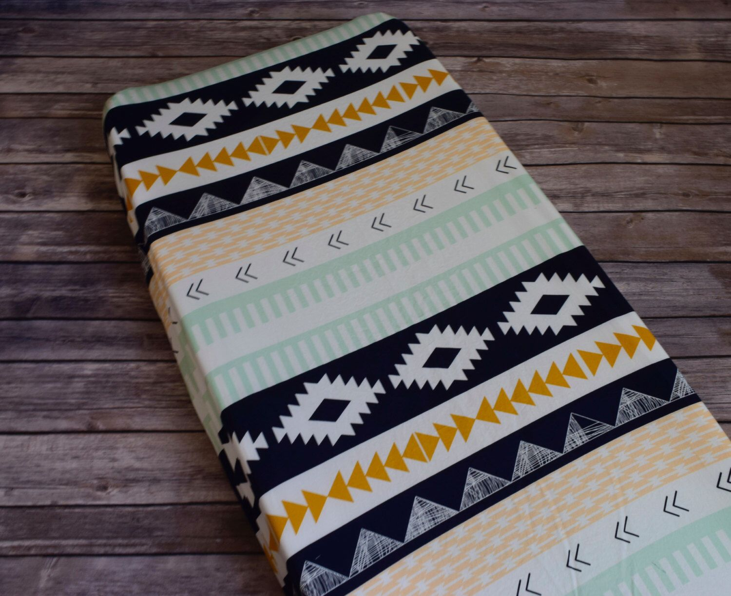 Tribal Changing Pad Cover, Southwestern Changing Pad Cover, Southwestern Baby Bedding, Gender Neutral Changing Pad Cover, Baby Shower Gift by KenziesQuiltShop on Etsy https://www.etsy.com/listing/479741028/tribal-changing-pad-cover-southwestern