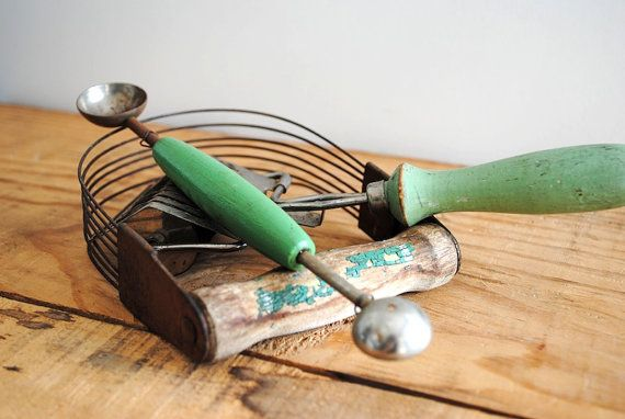 Vintage Set of Kitchen Tools  Instant Collection by labiblioteca, $18.00