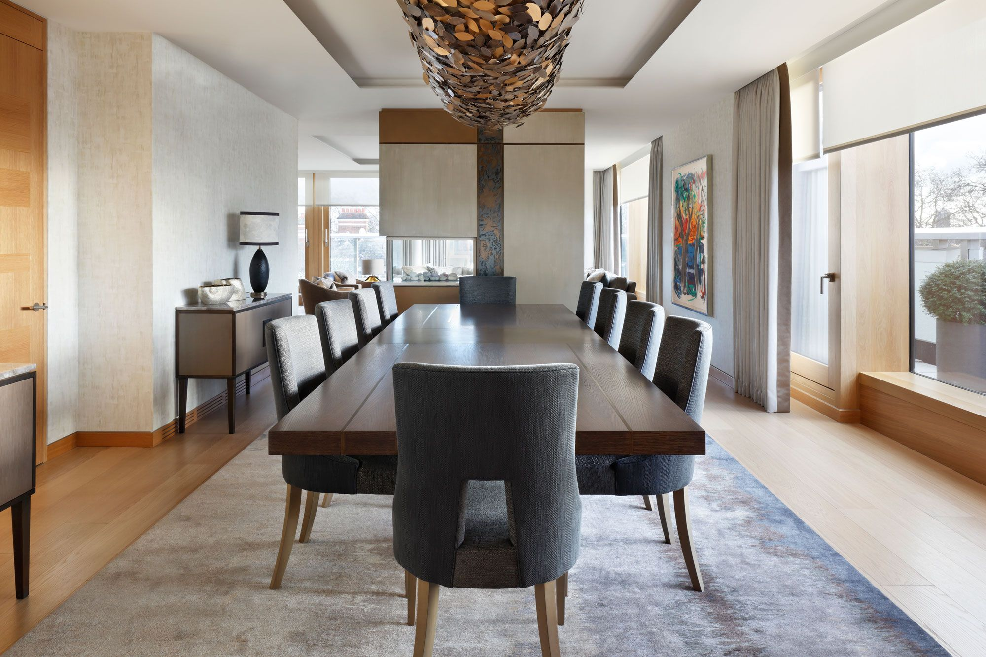 Helen green penthouse kensington dining table design modern dining table luxury dining