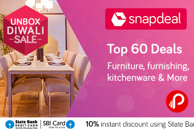 Snapdeal Is Offering Top 60 #Deals On #Furniture, #Furnishing, #Kitchenware  U0026 More. Extra 10% Off On SBI Cards. ...