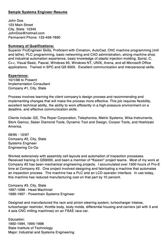 Sample Of System Engineer Resume Examples Resume Cv Sample Resume Vet Tech Job Description Resume