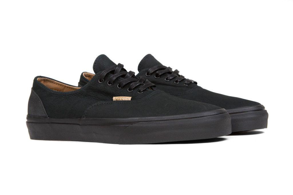 2d14d867fc Vans CA Mono Leather Era Decon - Black Rubber