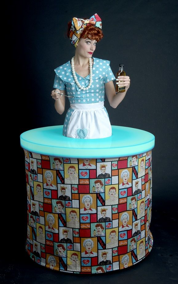 I Love Lucy Pop Art Strolling Table. Has A LED Light Up Top.
