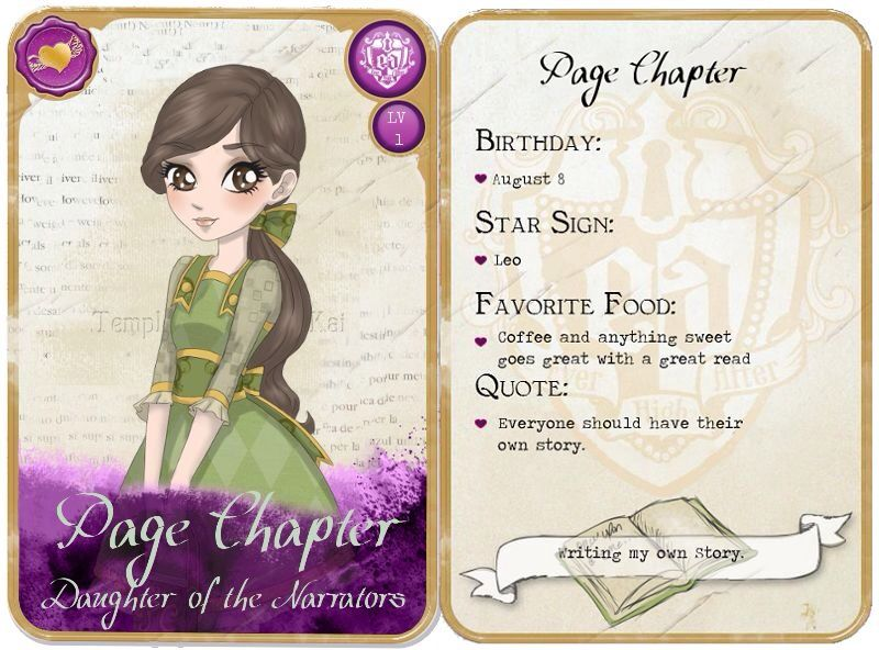My NEW RP CHARACTER!!!! (Ever After High)