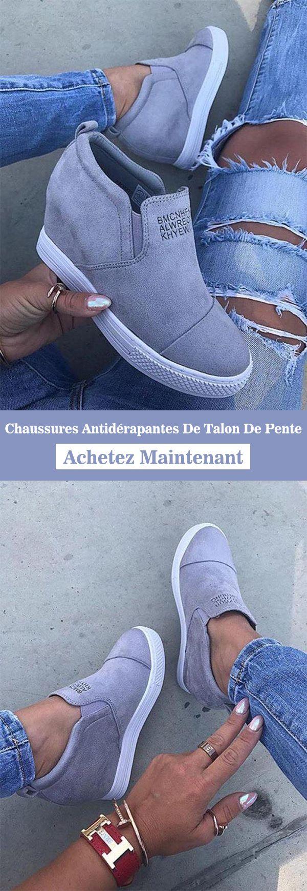Chaussures Antidérapantes De Talon De Pente | chaussure